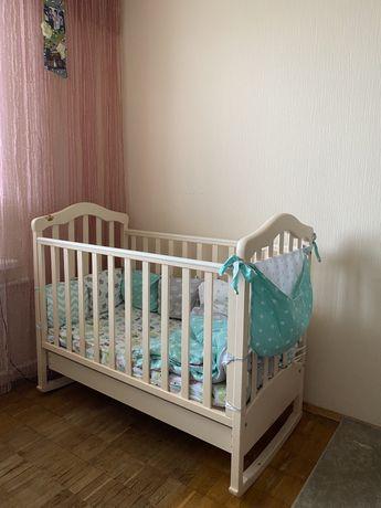 Кроватка люлька верес соня ящик защита одеяло матрас постельное белье