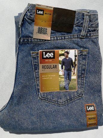 Markowe SPODNIE Lee REGULAR FIT jeans dżins 30X32