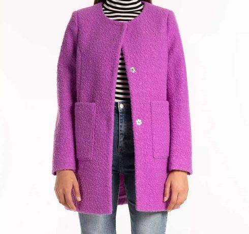 Płaszcz damski fioletowy