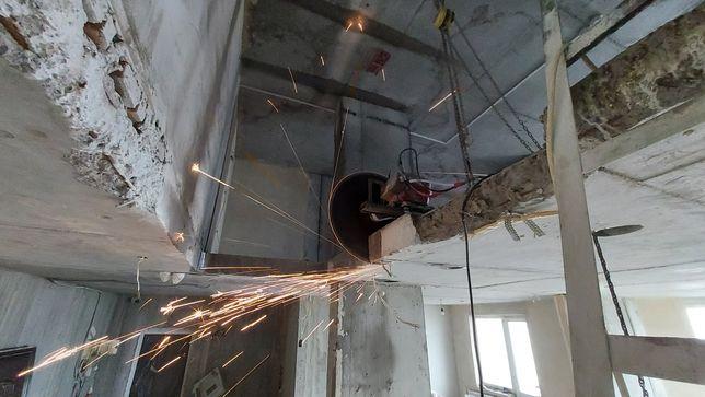 Алмазная резка бетона. Вырезание проемов в стенах и перекрытия