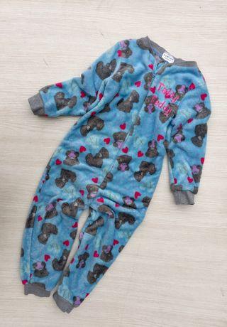 """Плюшевая пижама,слип,человечек """"Teddy """" на 5-6 лет"""