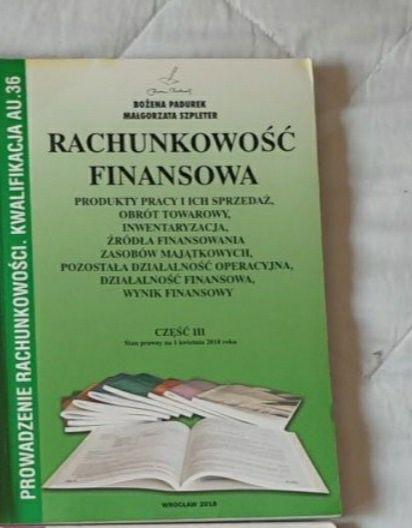 Rachunkowość finansowa część 3 - Bożena Padurek AU.36