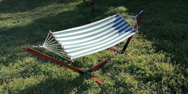 Cama de rede / tela / baloiço de jardim com suporte!