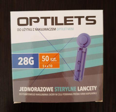Igły Optilets, lancety do nakłuwacza, cukrzyca ciążowa
