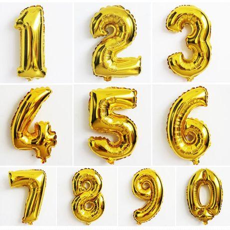 Цифры шарики фольгированные 1 метр шары из фольги воздушные надувные
