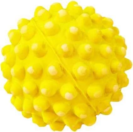 Zabawka piłka wypustki Happet 72m żółta