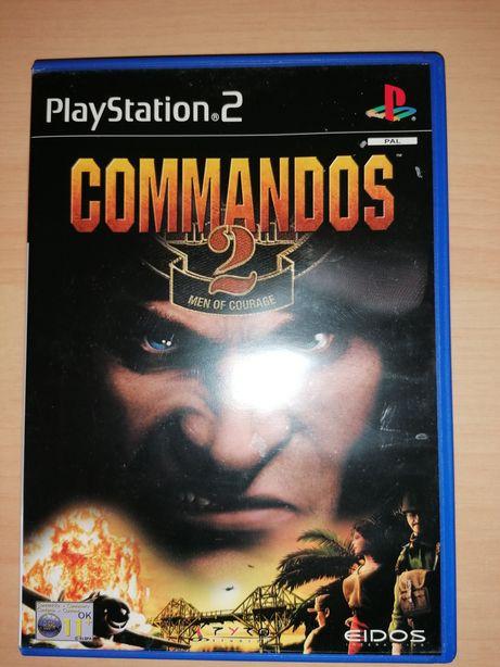 Jogo PS2 ( PlayStation 2 ) Commandos 2 - Men of Courage