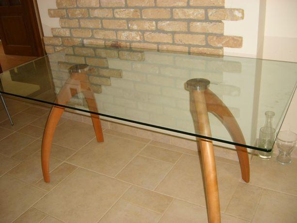 Oryginalny włoski szklany stół