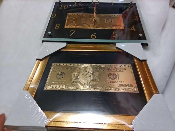 """СКИДКА!!! Часы настенные """"Доллар""""  Отличный подарок мужчине."""