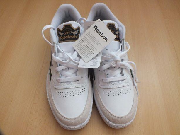 buty meskie reebok classic białe skórzane