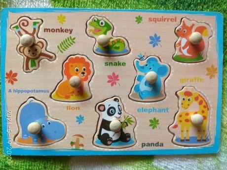 Дерев'яні іграшки рамка вкладиш деревяные игрушки