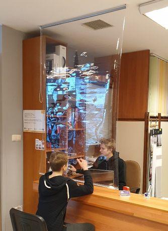 Roleta kotara zasłona bariera antywirusowa PVC dla sklepów biur barów