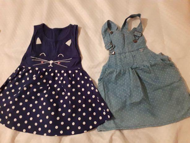Urocze sukienkeczki dla Twojej córeczki 98-104 GRATIS bluzeczka