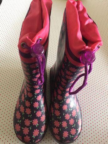Botas de chuva galochas Gioseppo T31 floridas menina
