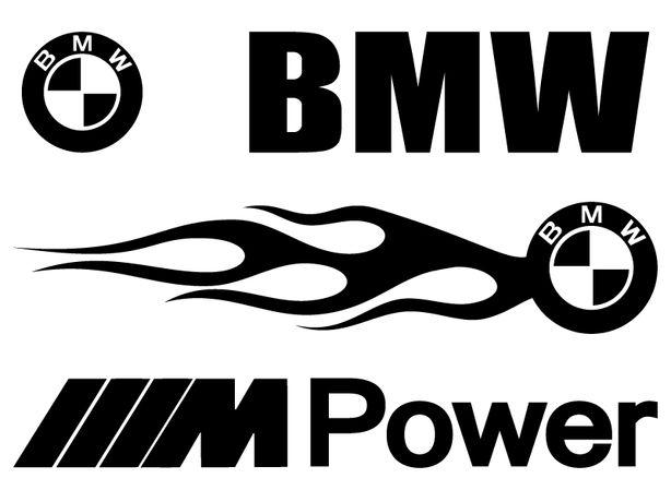 BMW M PowerAC SCHNITZER naklejki na samochód - komplet 2 sztuki 48 cm