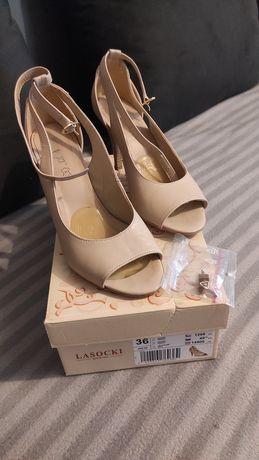 Sandały Lasocki beżowe.