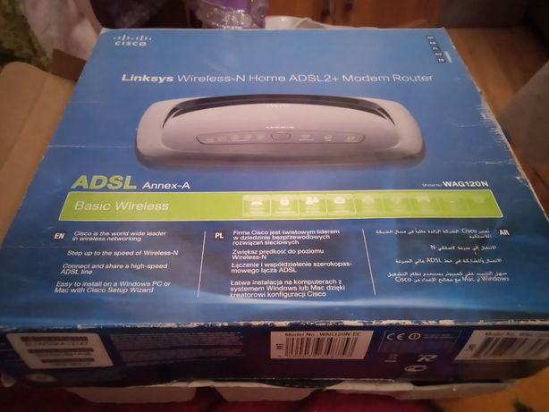 Linksys Wireless-N Home ADSL2 + Modem Router WAG120N