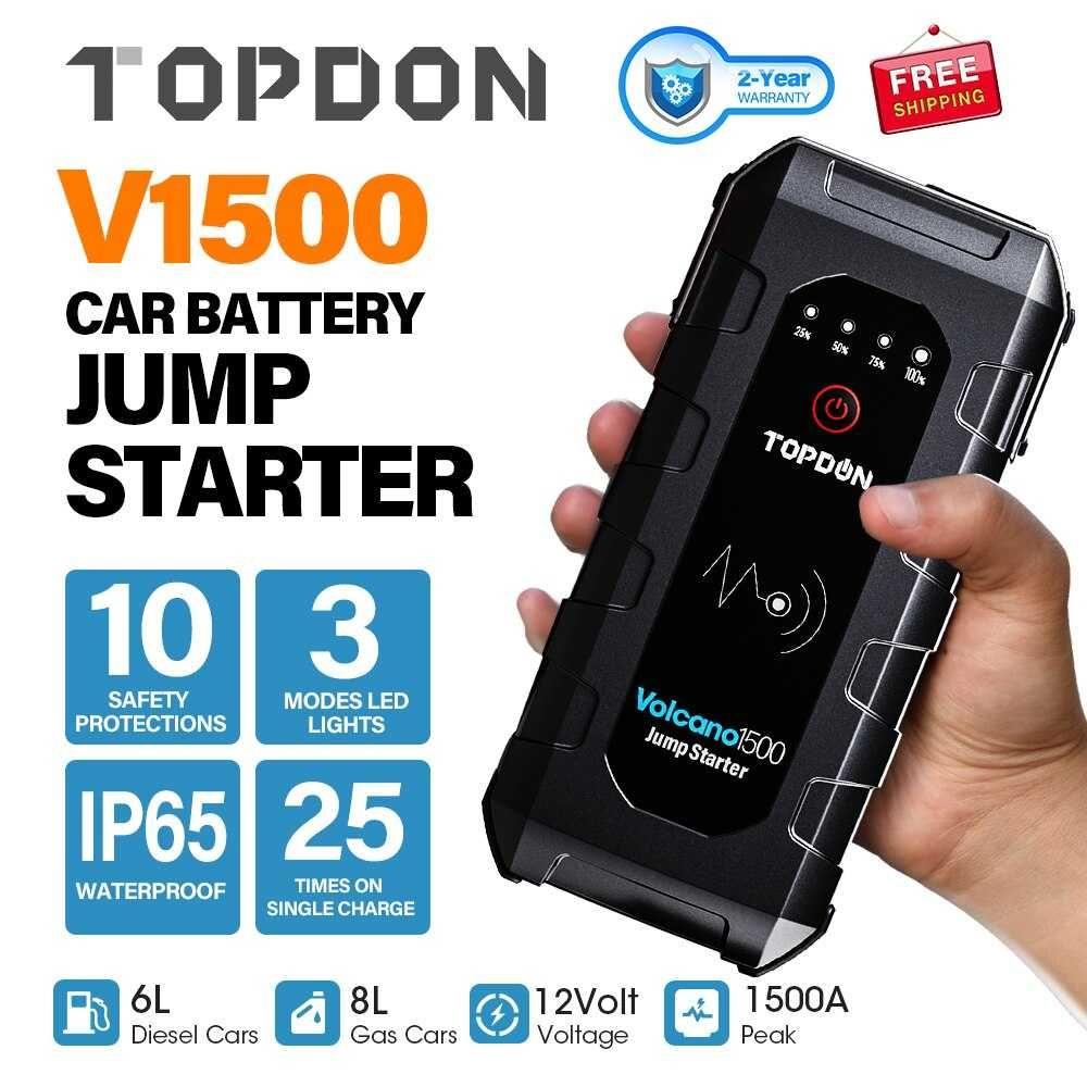 Booster Auto - 1500A de arranque - 18000mhA capacidade/carregar TLM