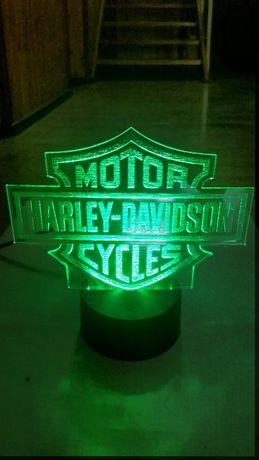 Lampka led 3d Harley Davidson Motor gratis