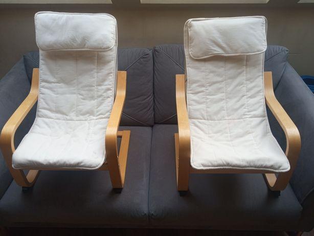 Dwa fotele dziecięce IKEA Poang UŻYWANE cena za zestaw