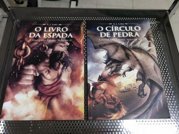 """Livros """"O Livro da Espada"""" e """"O Circulo da Pedra"""""""