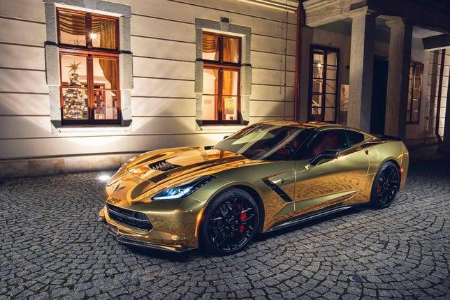 Samochod do ślubu Złoty Corvetta Camaro Porsche Mustang Maserati Audi