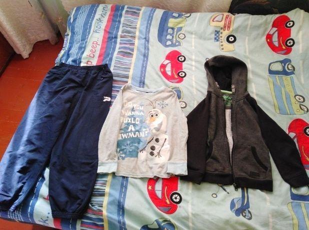Футболка, кофта, штаны. Пакет вещей.