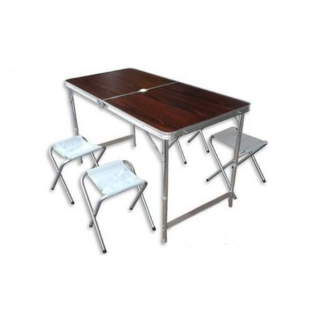 Стол для пикника + 4 стула Усиленный + отверстие под зонт