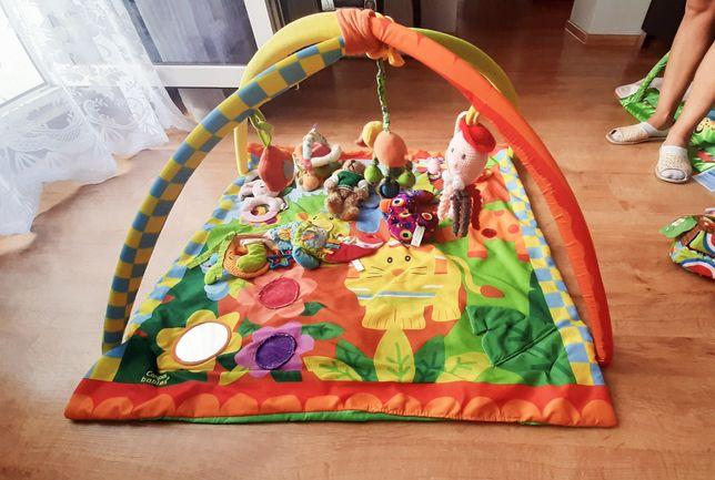 Mata edukacyjna plus zabawki i gryzaki