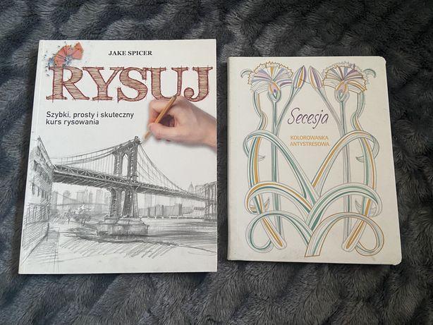 Książka Rysuj - nauka rysowania i Kolorowanka Antystresowa Secesja