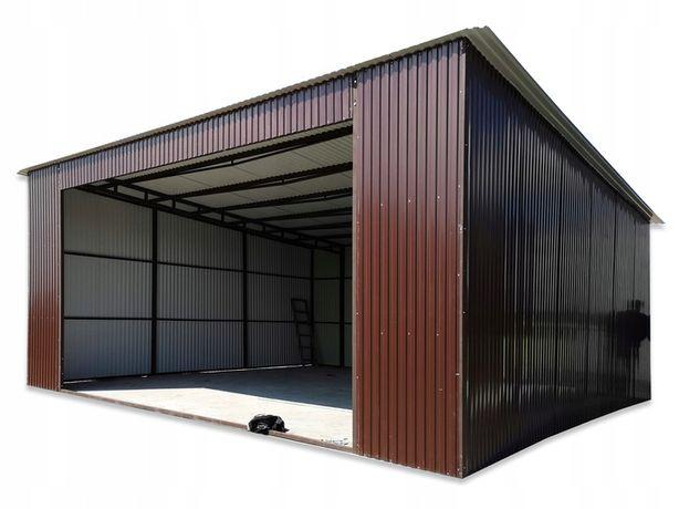 Garaż wiata blaszana 7x8 brama dwuskrzydłowa 5m na każdy wymiar