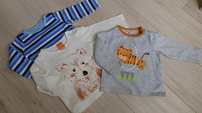 Bluzki niemowlęce 3 sztuki rozmiar 68