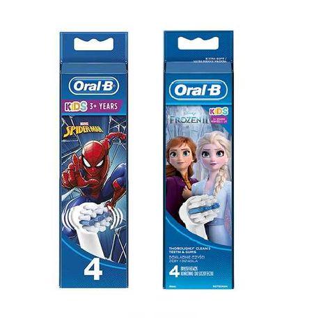 Насадки для зубных щеток Oral-B детские Frozen, тачки, мики, Spiderman