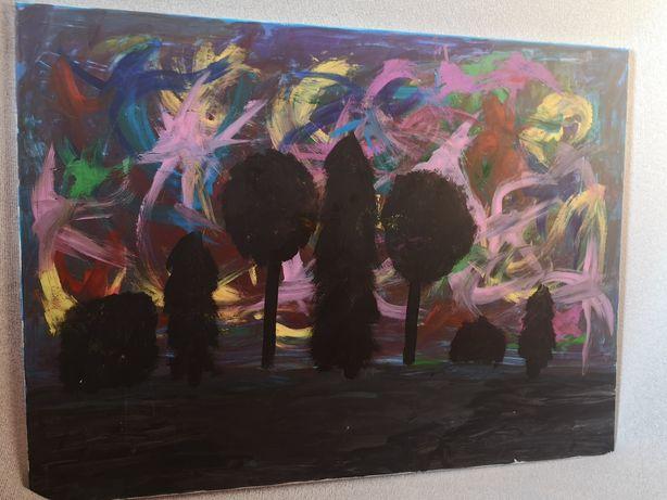 CZAR DRZEW. 80x60 duży obraz akrylowy na płótnie.