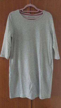 Nowa sukienka bawełniana XL jasno szara/ jasny melanż Tom & Rose