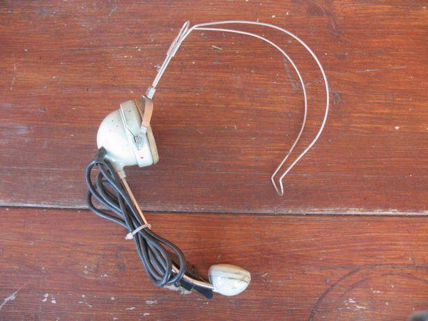 Stara słuchawka-miktotelefon nagłowny telefonistki-sygnowane MN-60