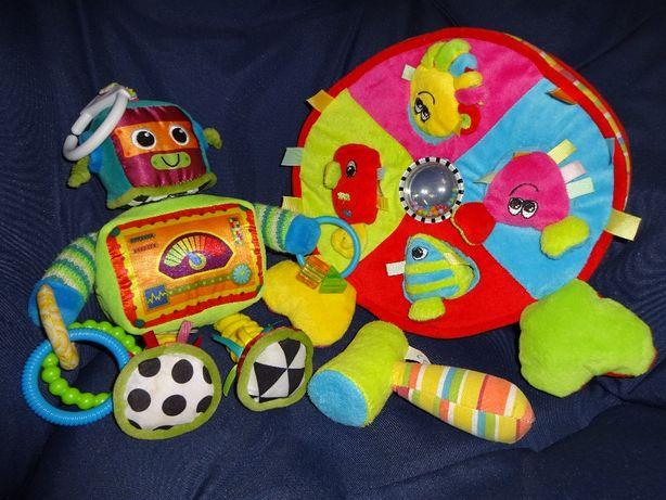 zestaw LAMAZE zawieszka robot + CANPOL Sorter Kolorowy Ocean i młotek