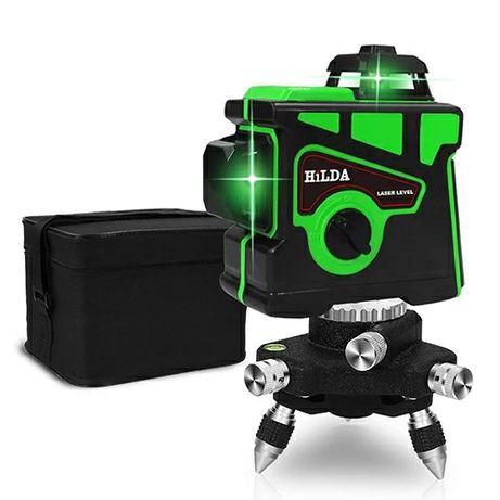 Nowy samopoziomujący 12liniowy laser krzyżowy poziomica laserowa Hilda