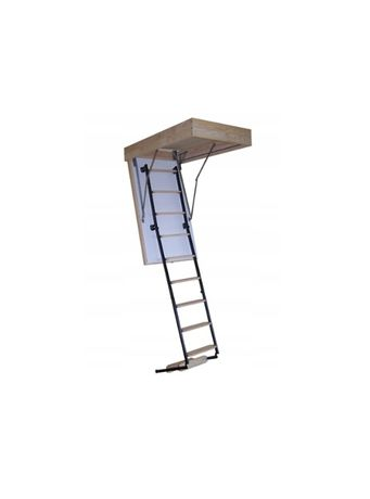 Schody strychowe ocieplane Termo metalowo-drewniane 70x90 gr. 53mm