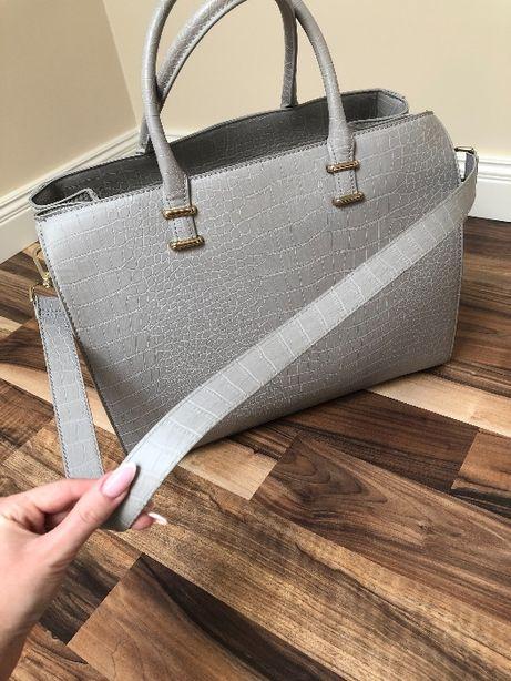 Szara torebka kuferek H&M