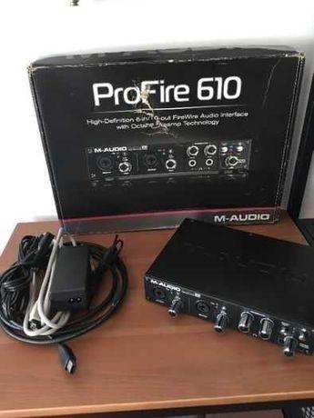 Interface M-Audio ProFire 610 Com Defeito - Conexão FireWire Não e USB
