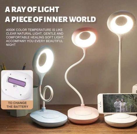 Настольная LED лампа с аккумулятором для учебы на стол