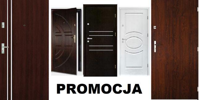Drzwi do mieszkania wejściowe-ZEWNĘTRZNE-drewniane-metalowe z MONTAŻEM