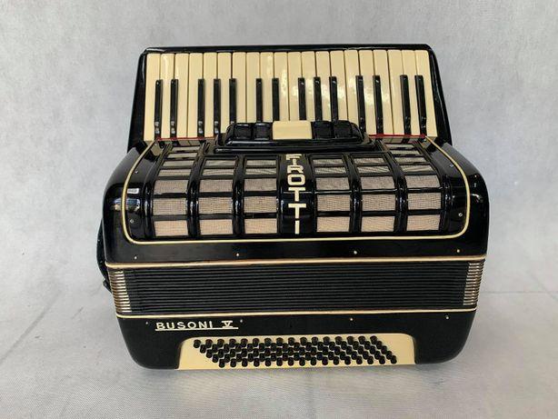 Akordeon niemiecki Firotti Busoni V 80 basów ładny bardzo lekki