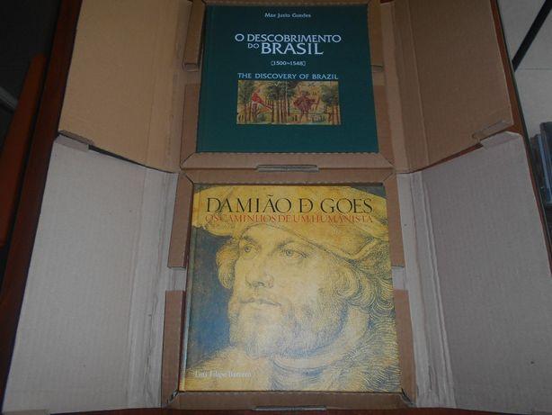 2 Livros CTT: Brasil e Damião de Goes (novos e nas caixas originais)