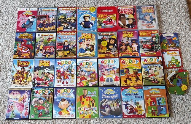 Zestaw filmów DVD dla Malucha, 30 płyt, wysyłka