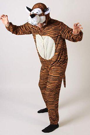n656 kostium przebranie tygrys głowa