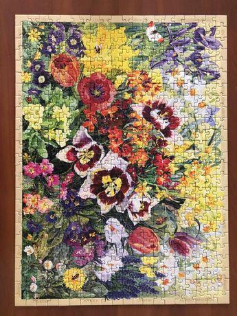 puzzle 500 ravensburger kwiaty