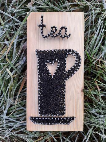 Картины в стиле стринг арт. Чай и кофе