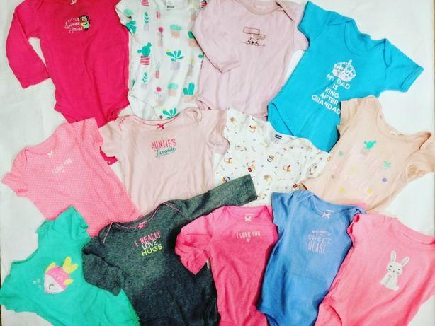 бодики, человечки, ползунки, футболки, штанишки для деток от 0 годиков